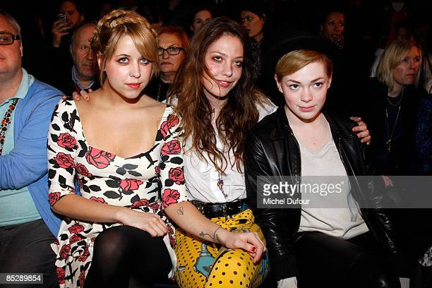Peaches Geldof Cory Kennedy and Uffie attend the Jeremy Scott ReadytoWear A/W 2009 fashion show during Paris Fashion Week at Faculte de Medecine on...