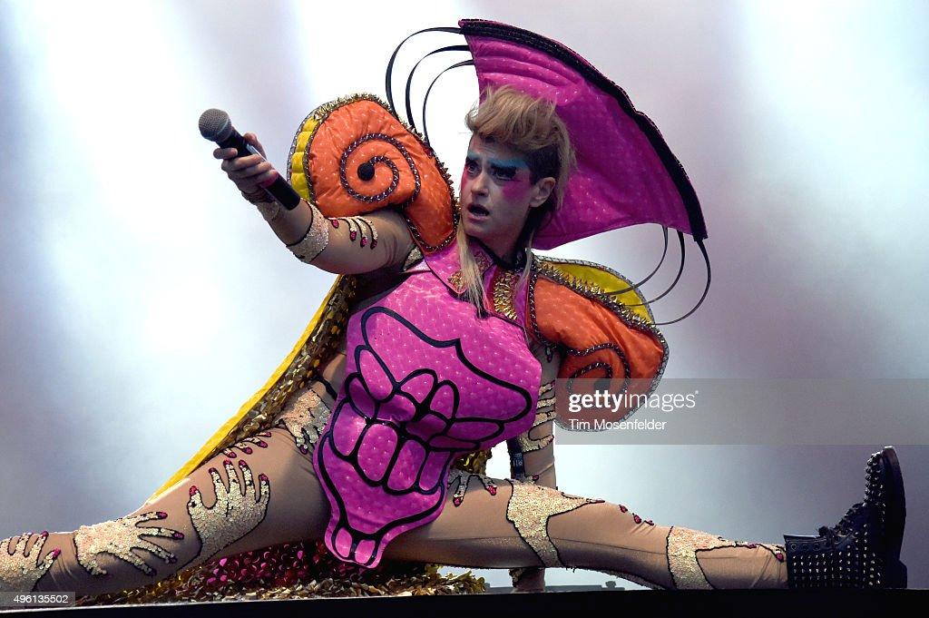 Peaches performs during Fun Fun Fun Fest 2015 at Auditorium Shores on November 6, 2015 in Austin, Texas.