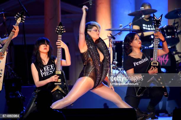 Peaches performs onstage during Full Frontal With Samantha Bee's Not The White House Correspondents' Dinner at DAR Constitution Hall on April 29 2017...