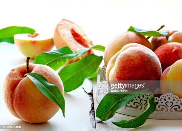peaches - モモ ストックフォトと画像