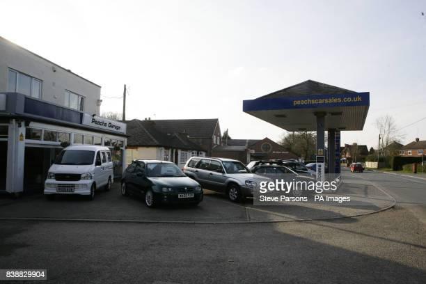 Peachs garage and car sales in the village of Upper Bucklebury West Berkshire