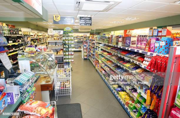 Peach's Spar store in the village of Upper Bucklebury West Berkshire