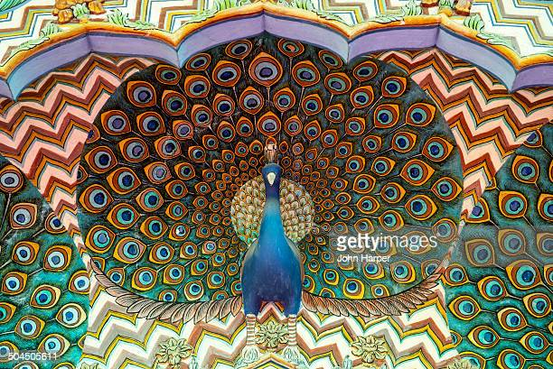 Peacock carving, City Palace, Jaipur, India