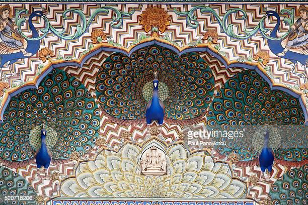 Peacock Gate at the City Palace, Jaipur, Rajasthan, India