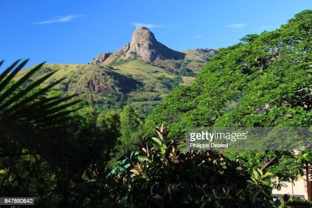 peak called execution rock on the nyonyane mountain, ezulwini valley, swaziland - swaziland stock photos and pictures