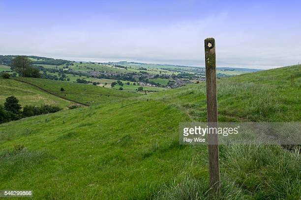 Peak District trail in to Youlgreave