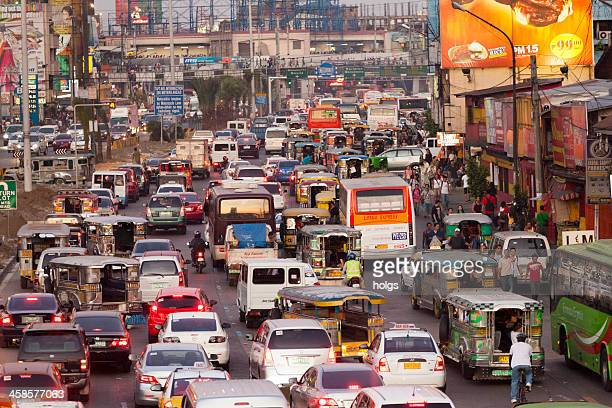 peak hour in metro manila - manila philippines stock pictures, royalty-free photos & images
