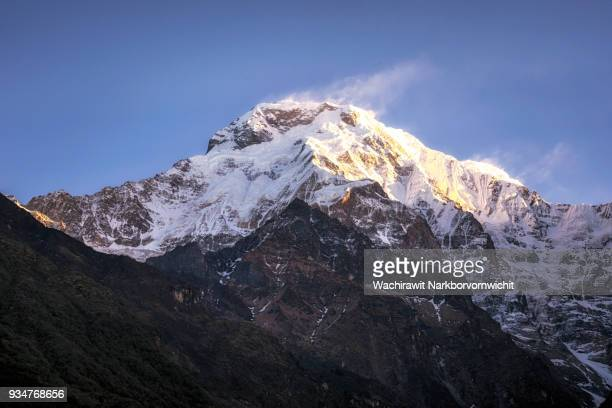 Peak of Annapurna South that can see in Annapurna Base Camp Trekking Route
