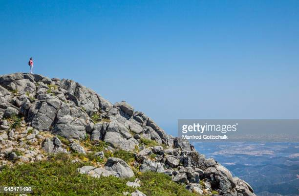 peak of foia mountain algarve - monchique stock pictures, royalty-free photos & images