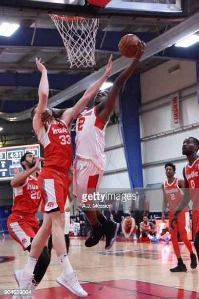 J Peak of the Maine Red Claws handles the ball during the NBA GLeague Showcase Game 25 between the Memphis Hustle and the Maine Red Claws on January...