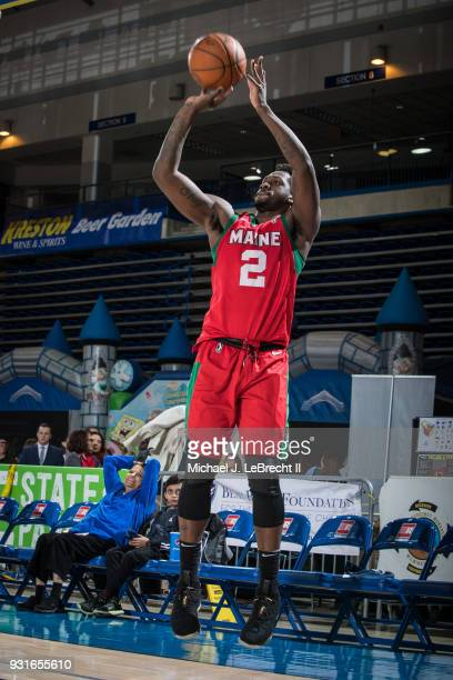 J Peak of the Maine Red Claws shoots the ball against the Delaware 87ers during a GLeague game on March 13 2018 at the Bob Carpenter Center in Newark...