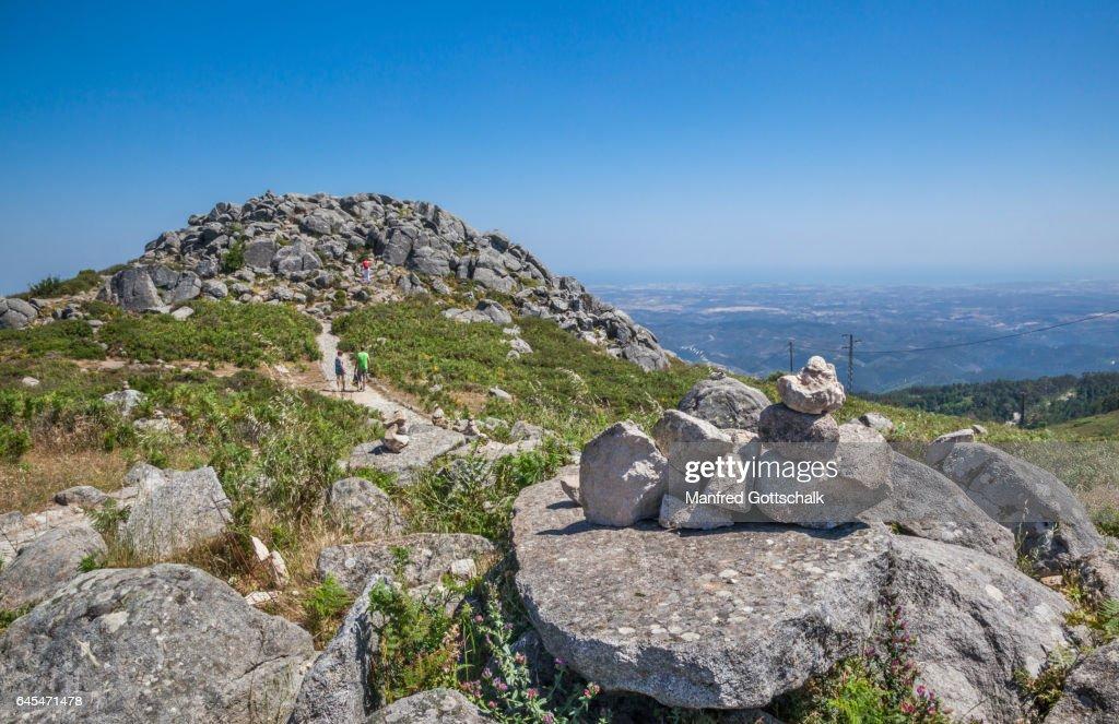 peak plateau of Foia mountain Algarve : ストックフォト