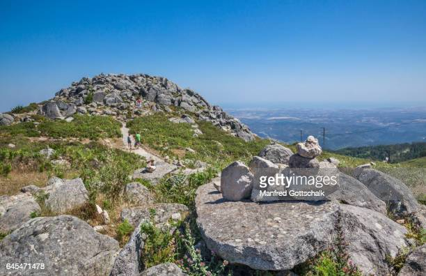 peak plateau of foia mountain algarve - monchique stock pictures, royalty-free photos & images