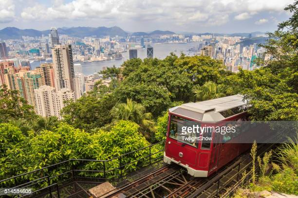 peak tram - tram stock pictures, royalty-free photos & images