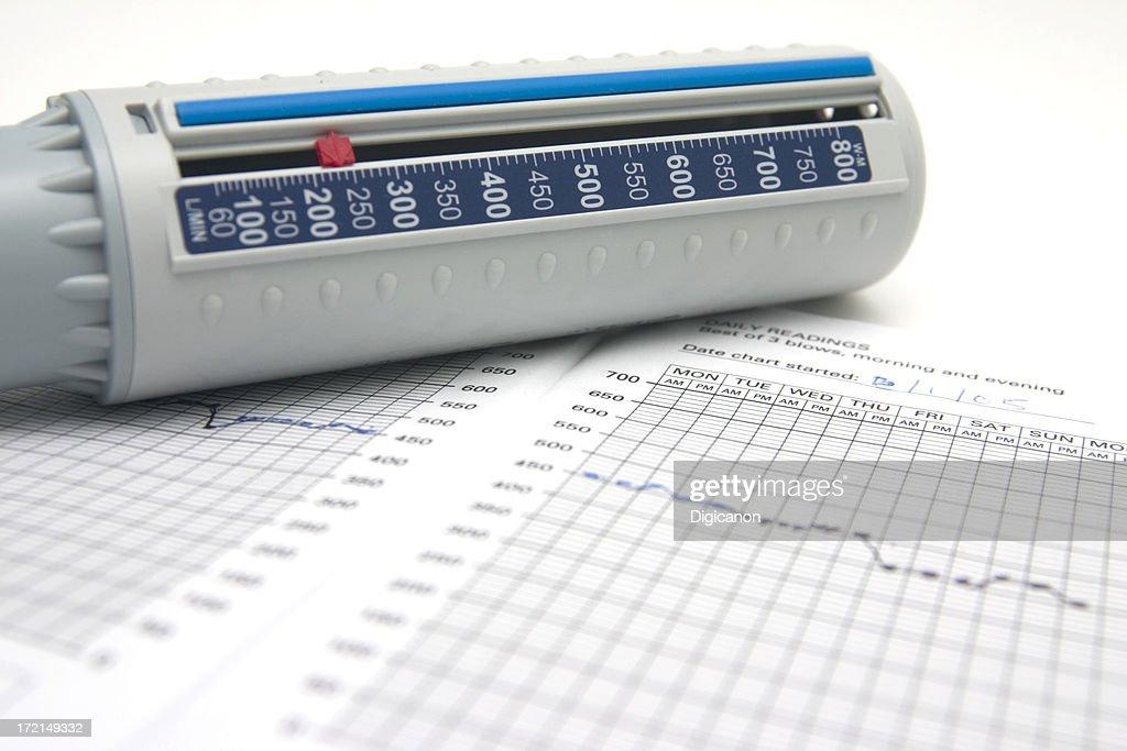 Peakflow Meter : Stock Photo