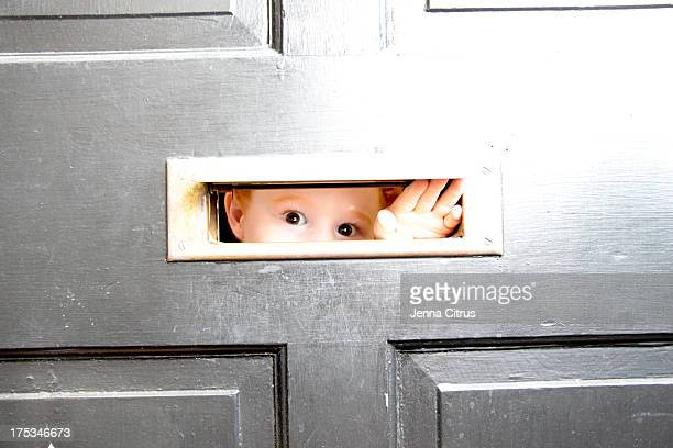 Peaking through the mail slot