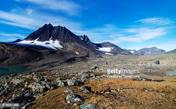 peaks of northern sweden - swedish lapland stock photos and pictures