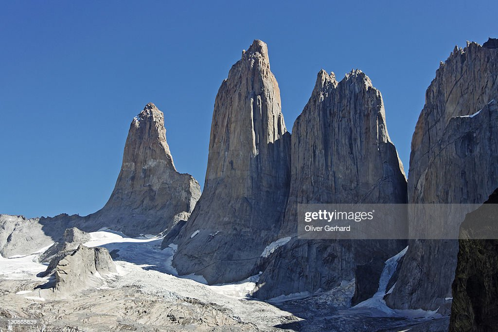 Peaks of the three Torres, Torres del Paine National Park, Patagonia, Chile, South America : Stock-Foto