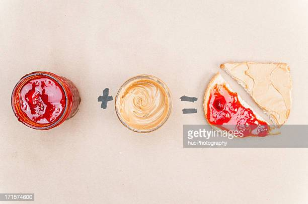 peanut butter and jelly - peanut butter and jelly sandwich stock pictures, royalty-free photos & images