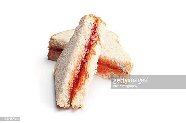 peanut butter and jelly sandwich - peanut butter and jelly sandwich stock pictures, royalty-free photos & images