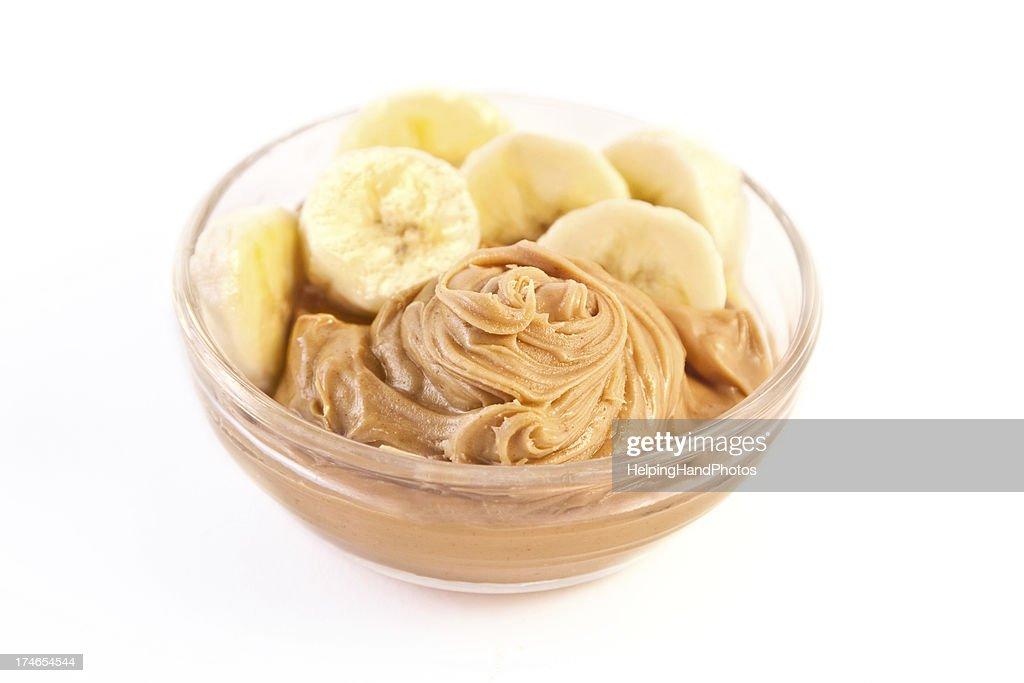 Peanut butter & bananas : Stock Photo
