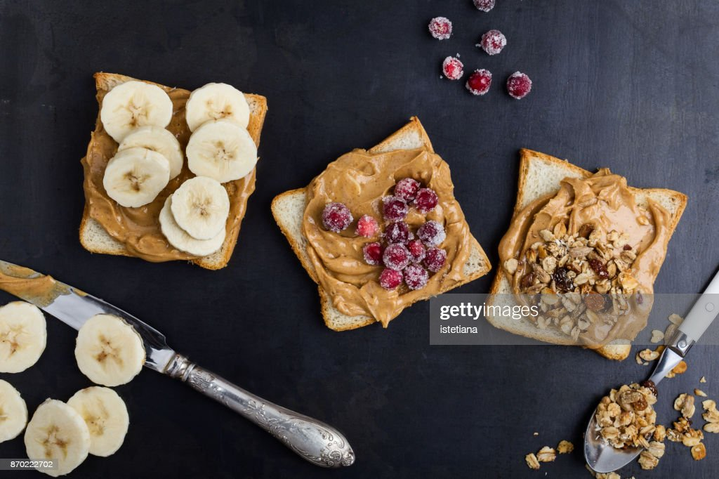 Peanut butter sandwiches : Stock Photo