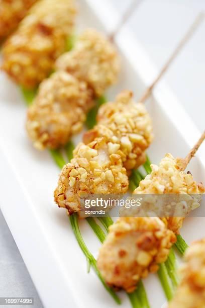 Cacahouète de kebabs au poulet