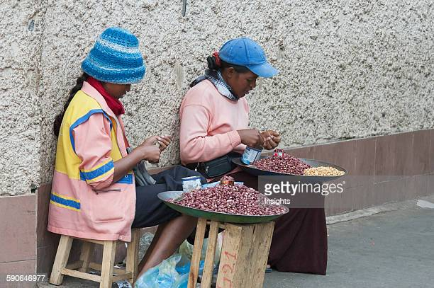 Peanut Sellers In Antananarivo Madagascar