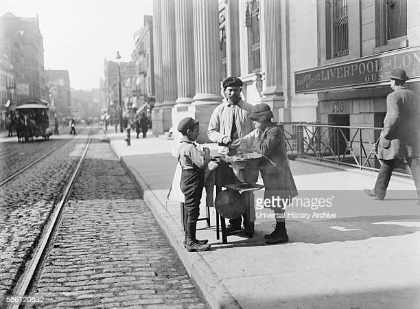 Peanut Stand West 42nd Street New York City USA circa 1905