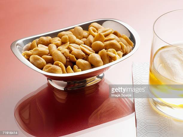 Peanuts and a drink