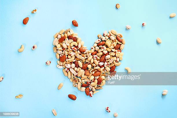 Peanuts and heart.