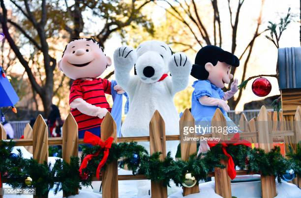 Peanuts float with Linus Snoopy and Lucy attend the 92nd Annual Macy's Thanksgiving Day Parade on November 22 2018 in New York City