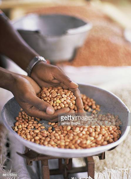 Peanuts in African market