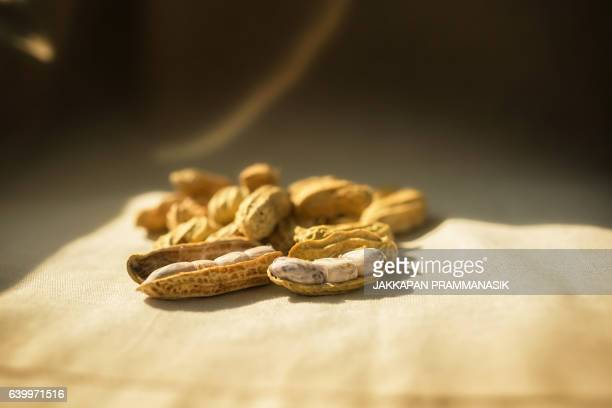 Peanuts with natural light