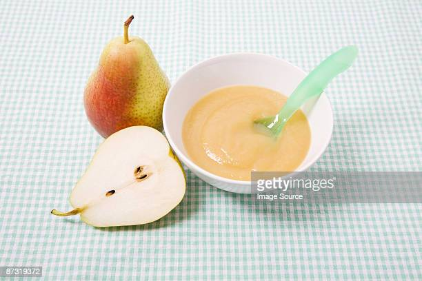 Pear and baby food