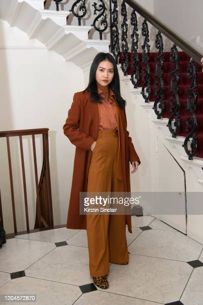 Pear Chimma at the Maison Bent AW20 Presentation at Pushkin House on February 06 2020 in London England