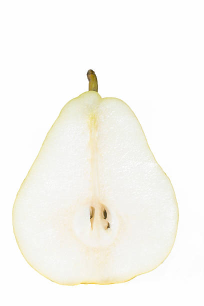 Pear Slice, Isolated On White Wall Art