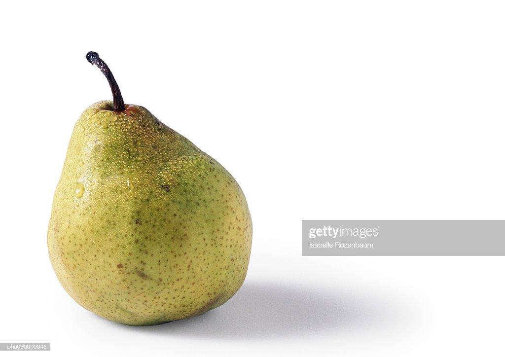 Pear, white background : Stockfoto