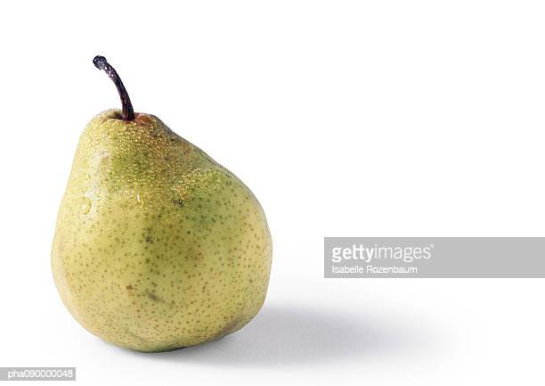 Pear, white background