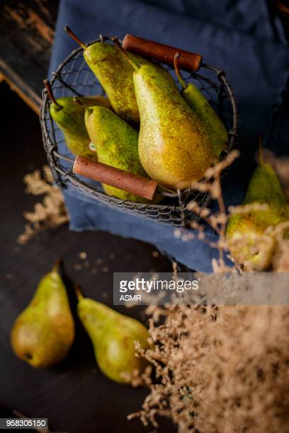 Pear with basket