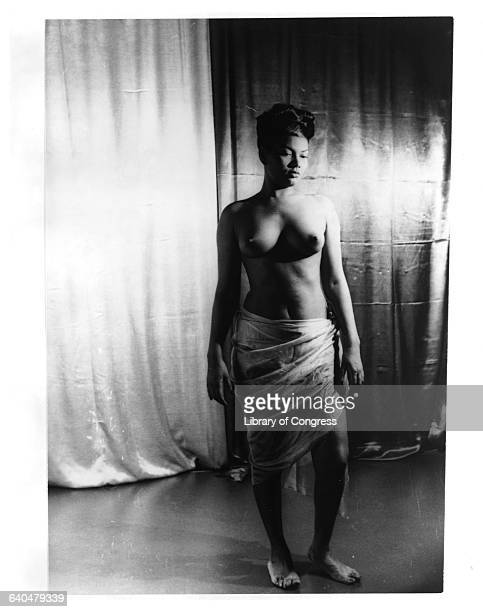 Pearl Bailey Standing Barebreasted