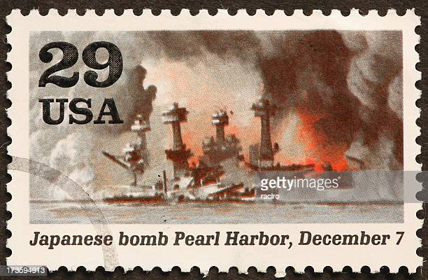 pearl harbor attack and burning ship uss arizona - uss_arizona stock pictures, royalty-free photos & images