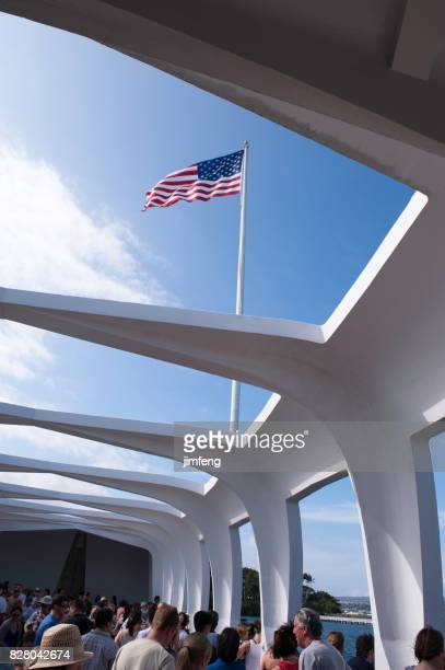pearl harbor hawaii - uss_arizona stock pictures, royalty-free photos & images