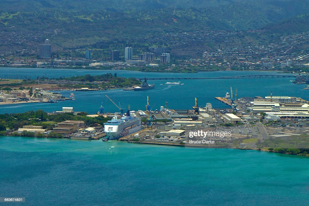 Pearl Harbor Shipyard : Stock Photo