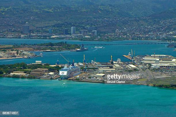 pearl harbor shipyard - pearl harbor naval shipyard stock photos and pictures