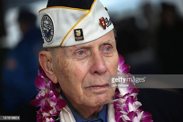 Pearl Harbor survivor Aaron Chabin attends a ceremony commemorating the 71st anniversary of the Japanese attacks on Pearl Harbor on December 7 2012...
