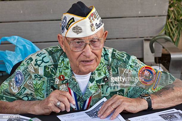 pearl harbor survivor - uss_arizona stock pictures, royalty-free photos & images