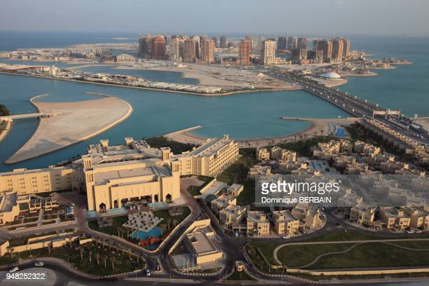 Pearl is a new district of Doha built on reclaimed land in arabic sea Grand Hyatt Hotel