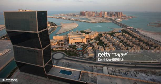 Pearl is a new district of Doha built on reclaimed land in arabic sea Grand Hyatt Hotel ZIG ZAG Tower