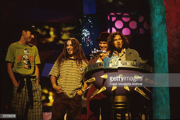 Pearl Jam at the 1993 MTV Music Video Awards held at the Universal Amphitheatre Los Angeles CA on September 2 1993 Photo by Frank...